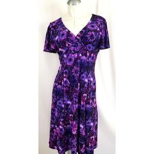 Chaps by Ralph Lauren Size M Purple Dress
